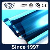 フィルムを染める太陽Windowsを構築する銀製の青い一方通行の視野