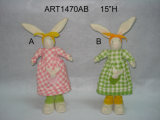 "4.5"" H Jingle Bell Bunny- Pascua Decoración-4asst"