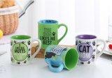 Tazas personalizadas de cerámica del viaje y tazas con Handpaint