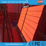 Écran visuel fixe extérieur de mur de P6.67 DEL pour le panneau-réclame