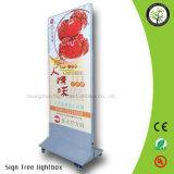 Im Freien doppelter mit Seiten versehener bekanntmachender heller Kasten des Gewebe-LED für Zeichen