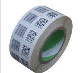 Productos pila de discos escrituras de la etiqueta autas-adhesivo del número de serie del uso