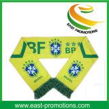 Оптовый изготовленный на заказ полиэфир напечатал связанный шарф футбольного болельщика сатинировки