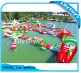 Nuovo PVC di disegno 0.9mm che fa galleggiare la sosta gonfiabile del gioco dell'acqua per il lago
