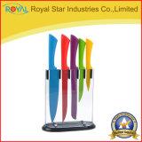 カラーナイフはツールのエプロンが付いている台所用品のステンレス鋼のナイフをセットした