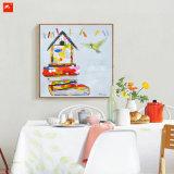 رسم متحرّك أسلوب منزل وعصافير فنّ لأنّ زخرفة بيتيّة