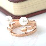 열등한 형식 보석 스테인리스 개인화된 진주 반지
