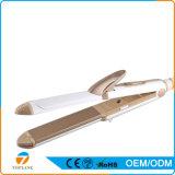 Multi-Función Profesional 3-en-1 hierro plano de cerámica del pelo Curling Hierro y planchas para el pelo