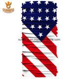 Bandana impresso feito sob encomenda Multifunctional do poliéster de Microfiber da bandeira nacional