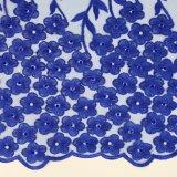 Tessuto francese del merletto di Tulle del ricamo dentellare di colore per il panno di cerimonia nuziale