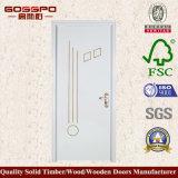 Porta de balanço de madeira da melamina 2017 branca moderna (GSP12-023)