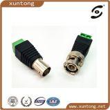Connettore impermeabile del CCTV BNC rf RG6 con il prezzo di merce (fabbrica del connettore)