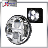 Linterna redonda de la pulgada LED de la alta calidad 7 para la viga alta-baja de la motocicleta 80W del jeep
