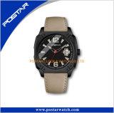 Il cuoio di vendita caldo personalizza l'orologio dell'OEM per gli uomini