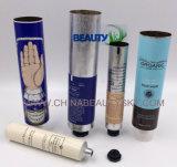 Creme de empacotamento da mão do cuidado de pele que etiqueta a câmara de ar dobrável vazia do recipiente de alumínio
