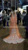 Vestidos luxuosos do partido de noite que perlam o vestido árabe Z4018 do baile de finalistas