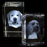 3D Laser gravado em branco K9 Cubo de cristal para lembrança