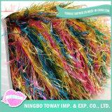 Hilados de polyester de nylon hechos girar de las lanas de la pluma de la suposición del oro (FY-073)