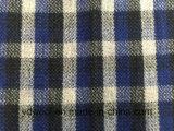 Ткань Stock ткани шерстей проверки голубая & черная шерстяная