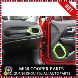 Renegade verde material del ajuste de Cover&Speaker de la salida de aire del estilo del ABS del accesorio auto (4PCS/SET)