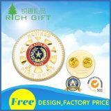 A manufatura fornece o emblema do emblema 58mm do chapeamento do esmalte com o projeto livre