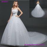 Мантии шарика Tulle длины пола шнурка выпускного вечера красотки платье венчания Handmade Bridal