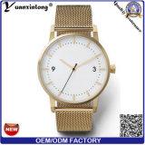Relógios novos da promoção da moda das mulheres dos homens do relógio dos pares da cinta de couro da alta qualidade de quartzo de Japão Movt do relógio de pulso da forma Yxl-468
