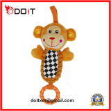 De Rammelaar van de Pret van de Kikker van de pluche klinkt het Stuk speelgoed van de Wandelwagen van het Speelgoed van de Baby