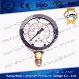 60mm mesure à haute pression remplie d'huile de 2.5 '' solides solubles avec le tube et la connexion de bourdon Integrated