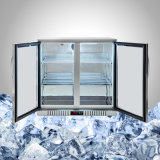 Stainless stalk Undercounter Fridge with glasses