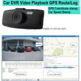 """2.7 """" Auto-Kamera-Videogerät Sony-Imx323 mit GPS, der Empfangsantenne, Google Karten-Spiel-rückseitigen Gleichlauf aufspürt; 5.0mega FHD1080p Auto-Flugschreiber, parkender Steuernocken"""