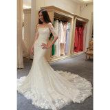 Тонкое подходящий высокорослое длиннее флористическое платье венчания Mermaid/Trumpet Bridal