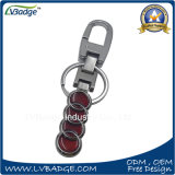 Anel chave personalizado de carro de metal com logotipo