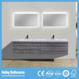 Vestíbulo superior del cuarto de baño del grado con 2 lavabos / espejos del LED y 4 cajones (BF327D)