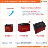 Batterij de Op hoge temperatuur van het Gel van de Leverancier 12V200ah van China - ZonneMacht, Marine