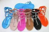 Stagione di estate del sandalo della gelatina del PVC