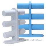 Del color azul claro de la joyería soporte de exhibición