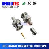 Connecteur mâle à angle droit du sertissage BNC pour le câble Rg58 Rg59