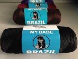 De synthetische Pruik van het Haar van de Wol van Brazilië van het Garen van het Haar