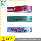 Polyester-Satin-Druck-Gewebe-Armband-FestivalWristband mit Plastikverschluß