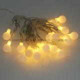Schlafzimmer-Dekoration-weiße Kugel-feenhafte Zeichenkette beleuchtet 30 LED
