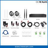 nécessaires sans fil du degré de sécurité NVR de télévision en circuit fermé de 4CH 1080P