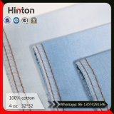 Tessuto blu-chiaro 100% della camicia del Jean di vendita del cotone del tessuto caldo del denim