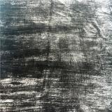 Velours en soie de ride en teinture ordinaire avec le clinquant argenté