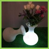 Vaso Illuminating da decoração do vaso de flor do diodo emissor de luz da mobília do fulgor