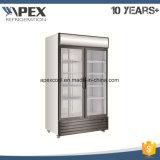 Refroidisseur de vitrine à double porte de 1400L dans le refroidissement à grande vitesse