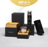 Neue Form kundenspezifischer faltender schwarze Papierkosmetik-gesetzter Kasten
