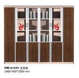 Module de mur en bois moderne de Home Office avec le bâti en métal