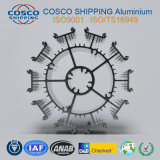 Het Profiel van Heatsink van het aluminium met het Zwarte Anodiseren en het Machinaal bewerken