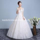 Os vestidos nupciais do laço Short as luvas que perlam os vestidos de casamento Z613